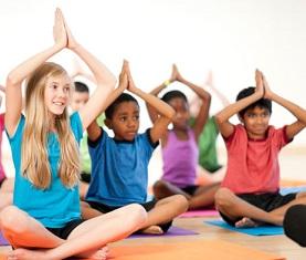 kids in yoga pose